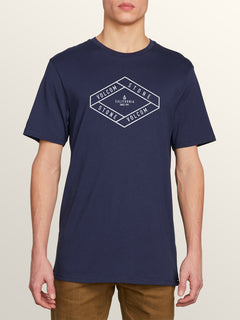 Post It Cali Short Sleeve Tee In Navy, Front View