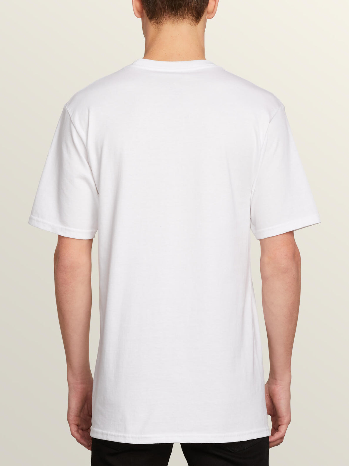 Post It Cali Short Sleeve Tee In White, Back View