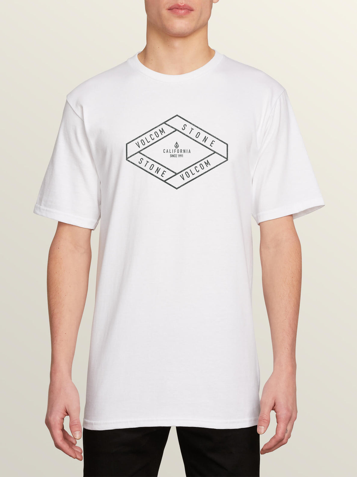 Post It Cali Short Sleeve Tee In White, Front View