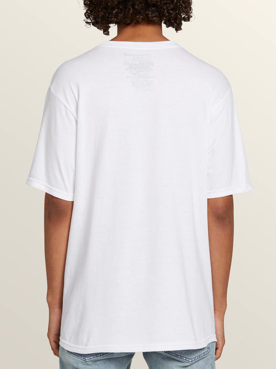 Florida Flag Short Sleeve Tee In White, Back View
