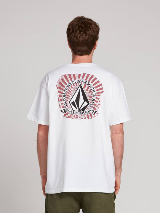 Gtxx Down South Bk Short Sleeve Tee In White, Back View