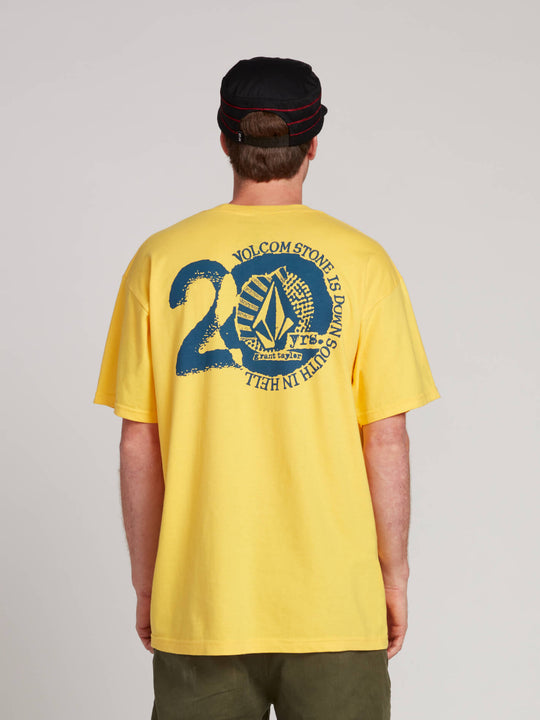 Gtxx Down South Ft Short Sleeve Tee In Gold, Back View