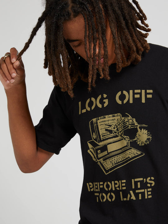Log Off Short Sleeve Tee - Black (A3541904_BLK) [02]