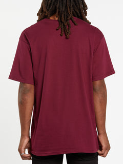 Series Short Sleeve Tee - Maroon (A35419H4_MAR) [B]