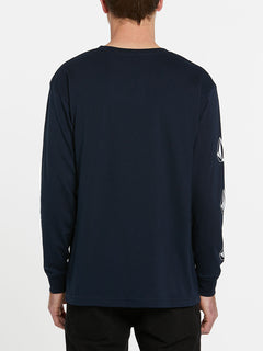 USST Deadly Stones Long Sleeve Tee - Navy (A3602010_NVY) [B]
