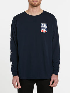 USST Deadly Stones Long Sleeve Tee - Navy (A3602010_NVY) [F]