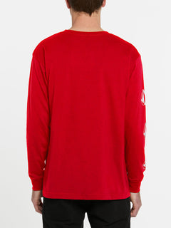 USST Deadly Stones Long Sleeve Tee - Red (A3602010_RED) [B]