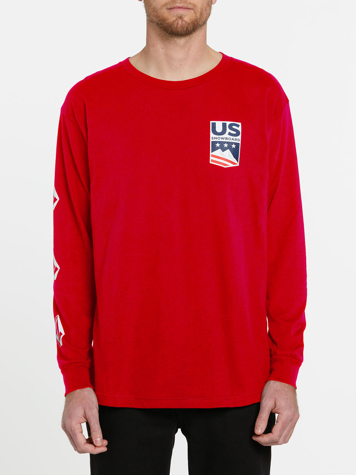 USST Deadly Stones Long Sleeve Tee - Red (A3602010_RED) [F]