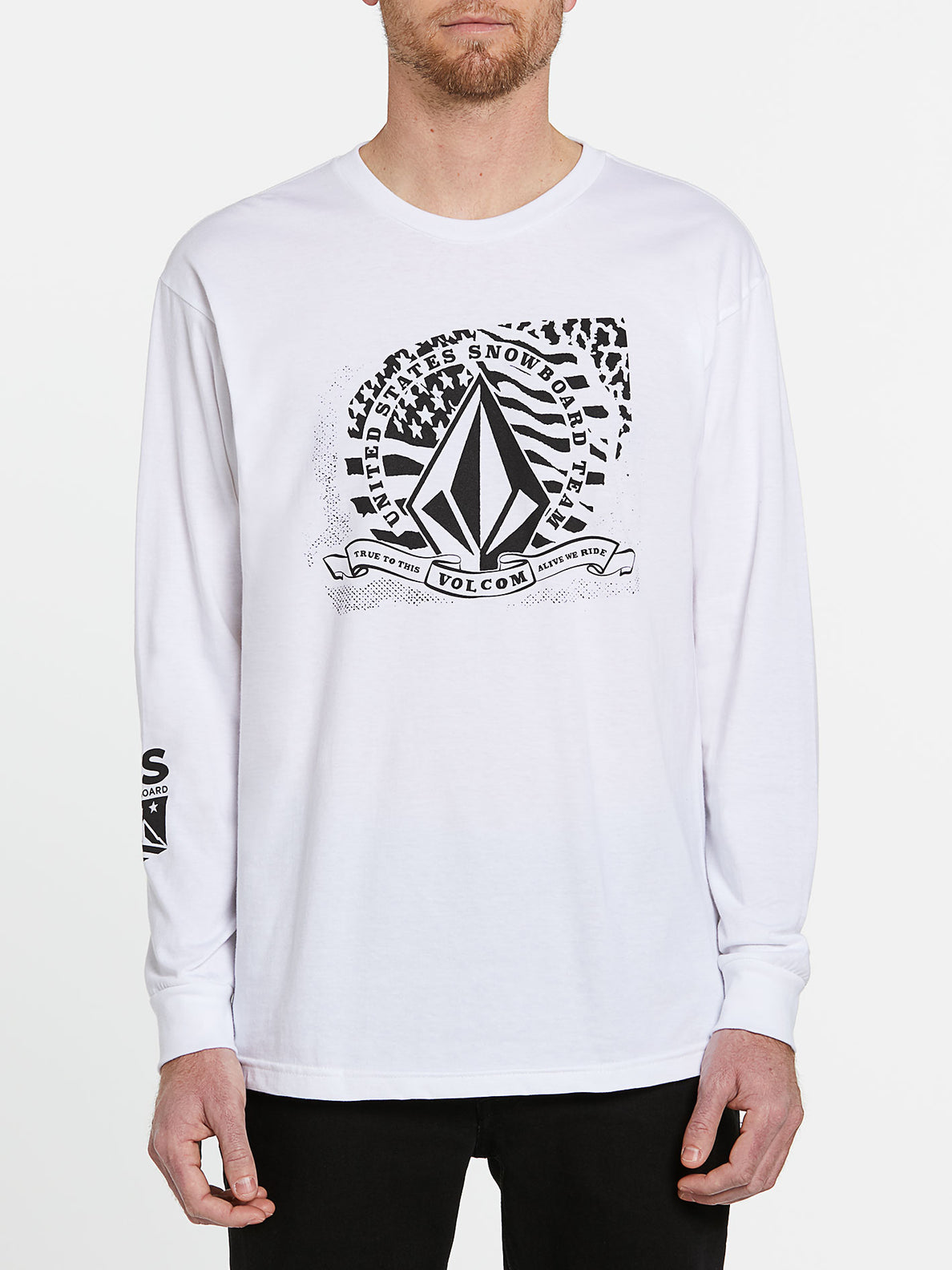 USST Long Sleeve Tee - White (A3602011_WHT) [F]