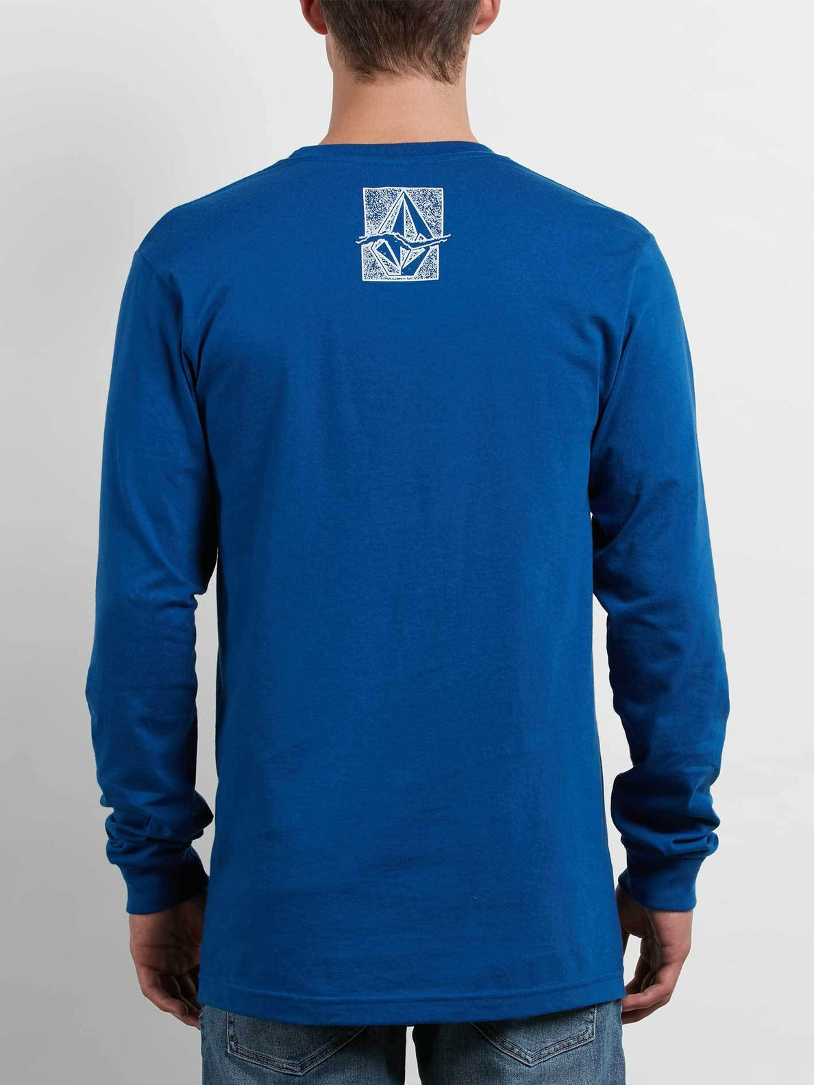 Edge Long Sleeve Tee In Camper Blue, Back View