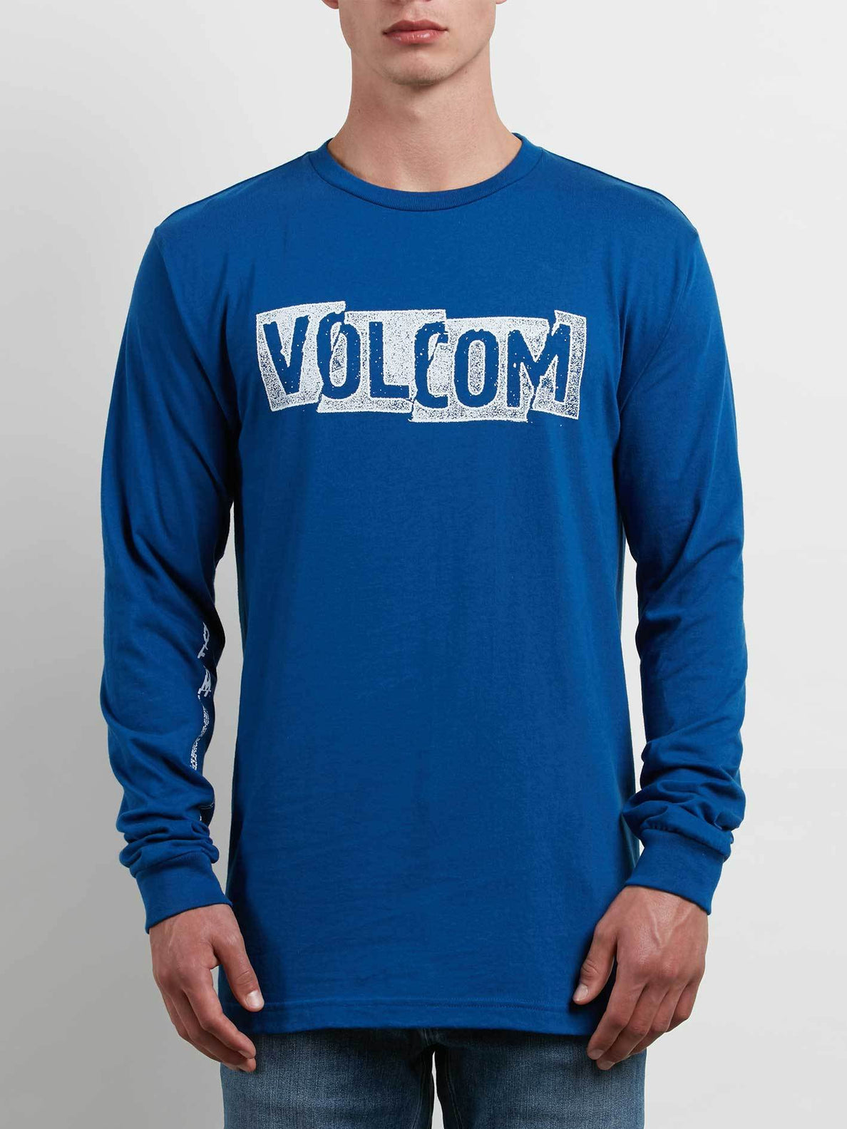Edge Long Sleeve Tee In Camper Blue, Front View
