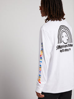 Ozzie Rainbow Long Sleeve Tee - White (A3611900_WHT) [1]