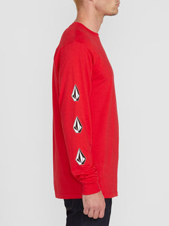 DEADLY STONES L/S TEE (A3612004_RED) [1]