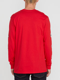 DEADLY STONES L/S TEE (A3612004_RED) [B]