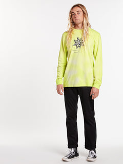 Burch Long Sleeve Tee - Hilighter Green (A3622001_HIG) [07]
