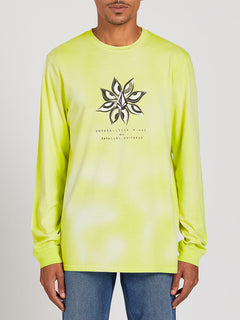 Burch Long Sleeve Tee - Hilighter Green (A3622001_HIG) [F]