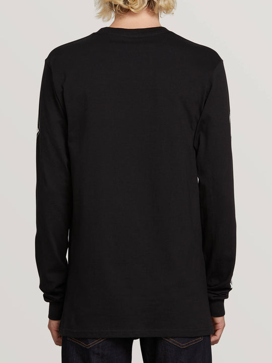 Deadly Stones Long Sleeve Tee In Black, Back View