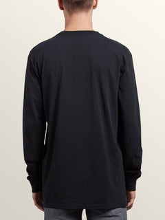 Noa Noise Long Sleeve Tee In Black, Back View