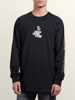 Noa Noise Long Sleeve Tee In Black, Front View