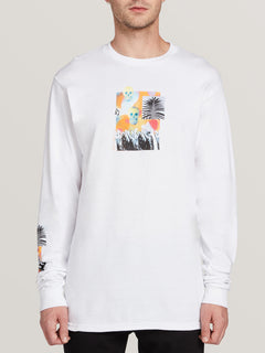 Power Long Sleeve Tee - White (A3631905_WHT) [F]