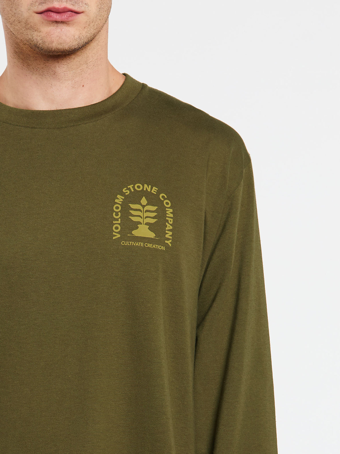 Culturevate Long Sleeve Tee - Military (A3632002_MIL) [1]