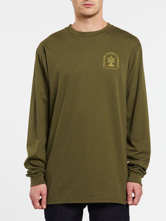 Culturevate Long Sleeve Tee - Military (A3632002_MIL) [F]