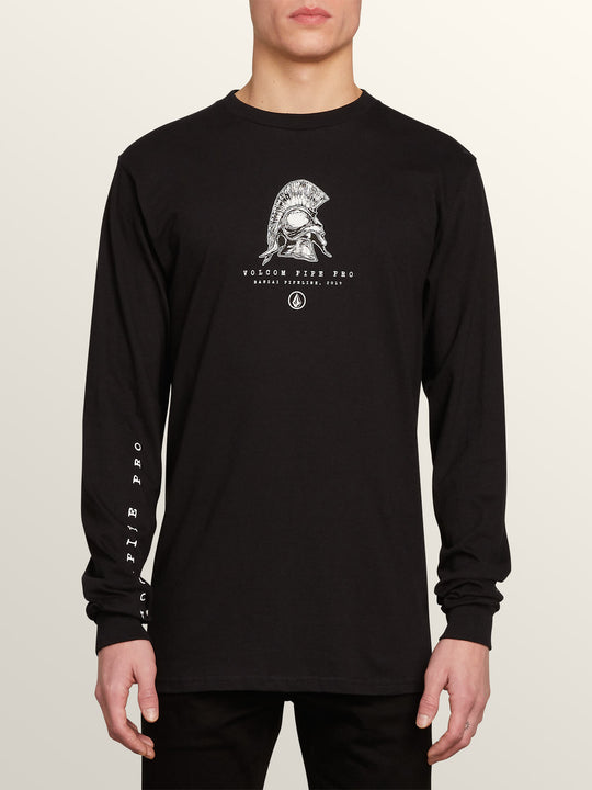 Vpp Helmet Long Sleeve Tee In Black, Front View
