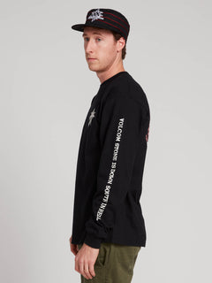Gtxx Down South Long Sleeve Tee In Black, Alternate View