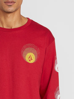 Future Stones Long Sleeve Tee - Engine Red (A3641905_ENR) [1]