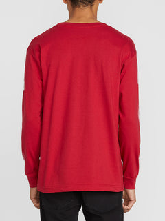 Future Stones Long Sleeve Tee - Engine Red (A3641905_ENR) [B]