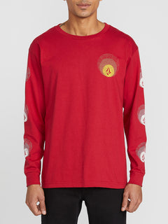 Future Stones Long Sleeve Tee - Engine Red (A3641905_ENR) [F]