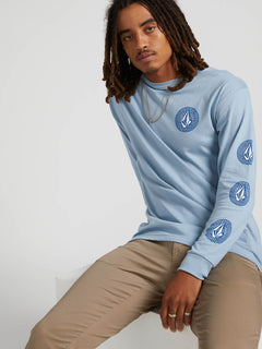Future Stones Long Sleeve Tee - Flight Blue (A3641905_FLB) [01]