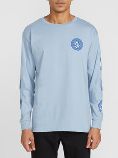 Future Stones Long Sleeve Tee - Flight Blue (A3641905_FLB) [F]