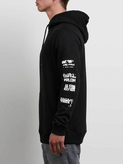 Supply Stone Pullover Hoodie In Black, Alternate View