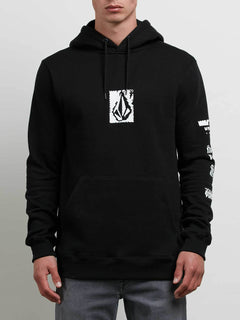 Supply Stone Pullover Hoodie In Black, Front View