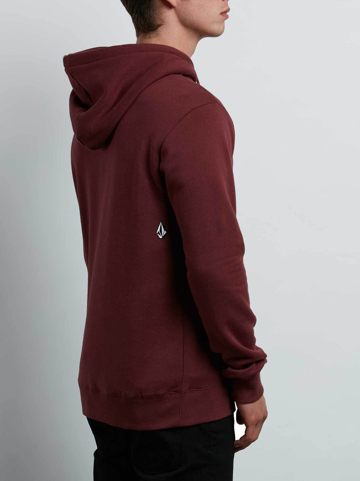 Supply Stone Pullover Hoodie In Crimson, Alternate View