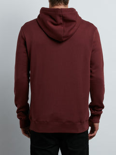 Supply Stone Pullover Hoodie In Crimson, Back View