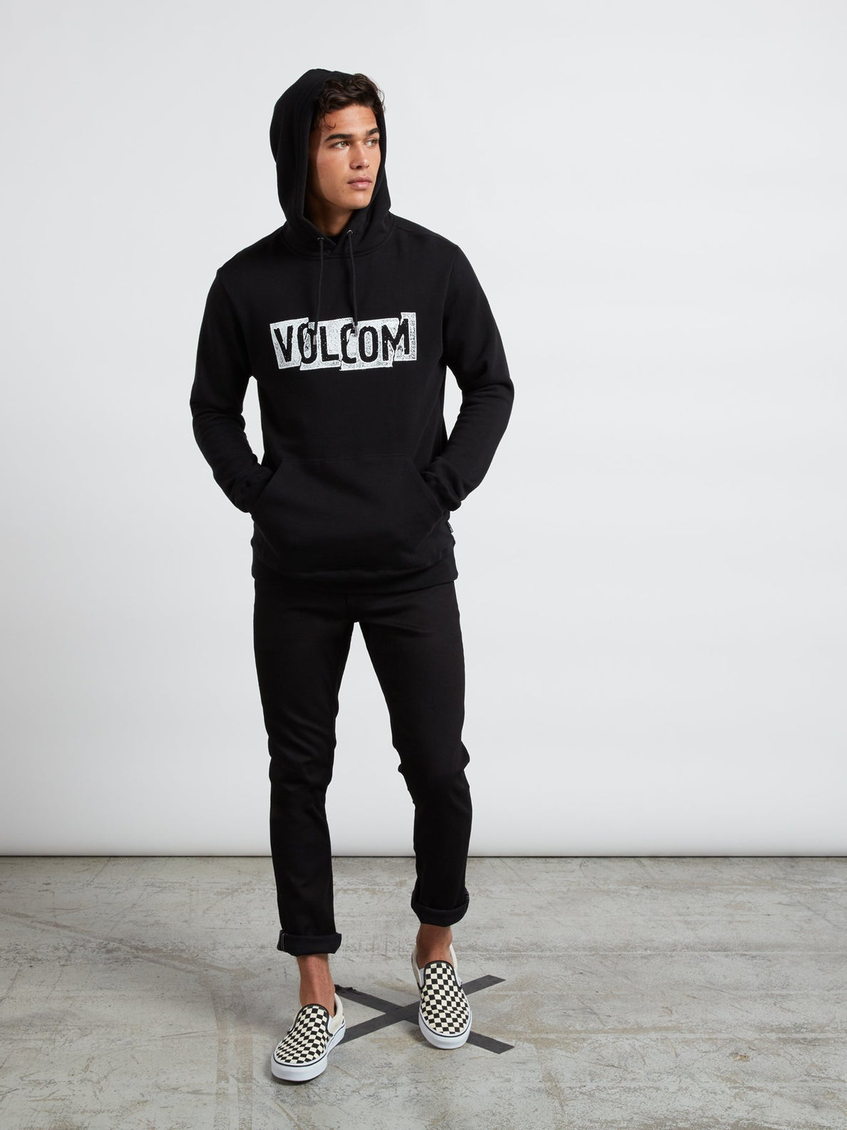 Supply Stone Pullover Hoodie In New Black, Wide View