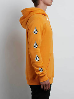 Supply Stone Pullover Hoodie In Tangerine, Alternate View
