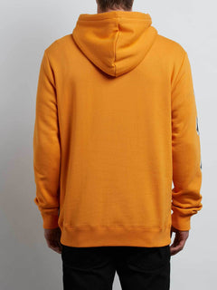 Supply Stone Pullover Hoodie In Tangerine, Back View