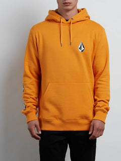 Supply Stone Pullover Hoodie In Tangerine, Front View