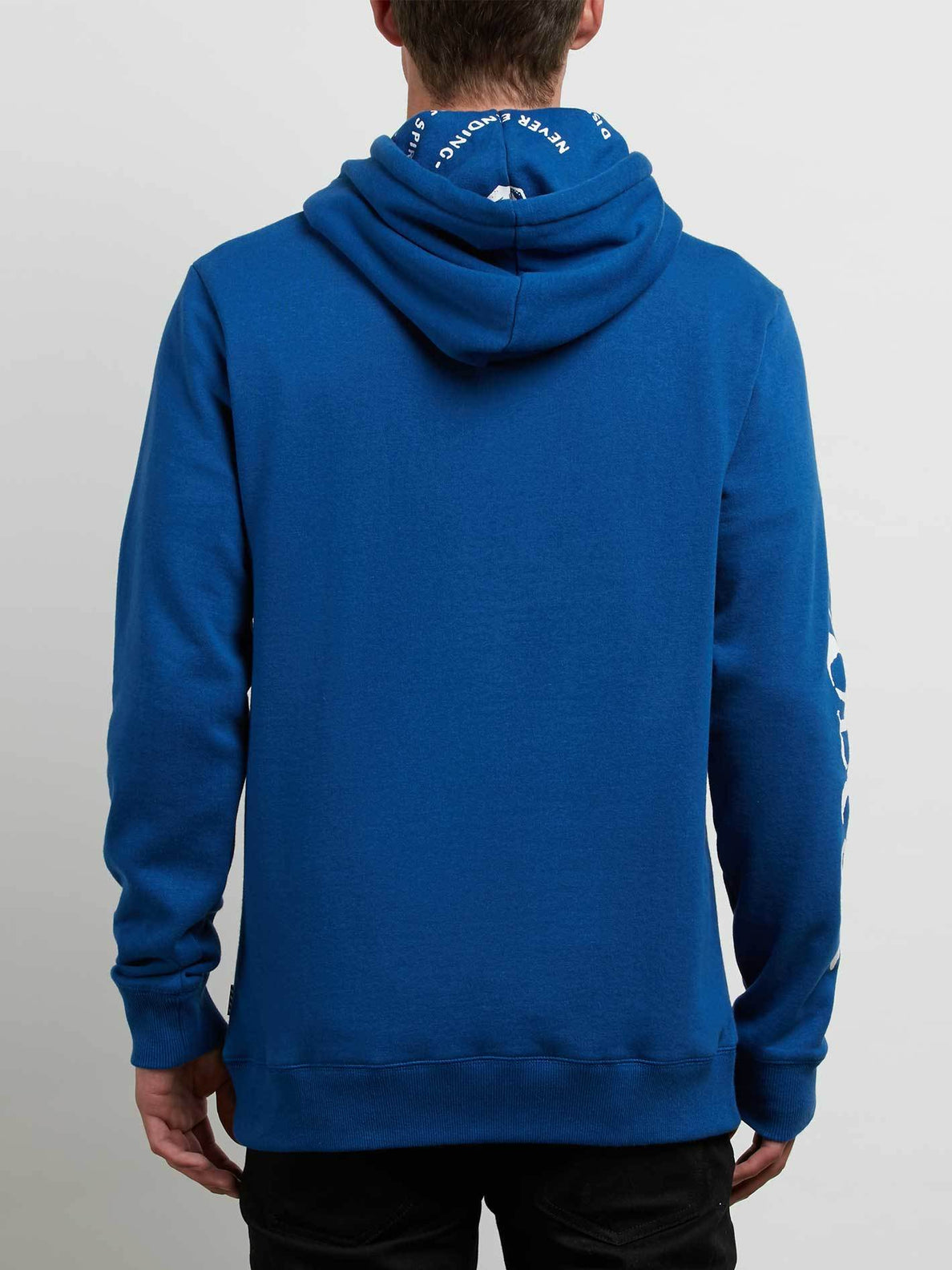 Reload Pullover Hoodie In Camper Blue, Back View