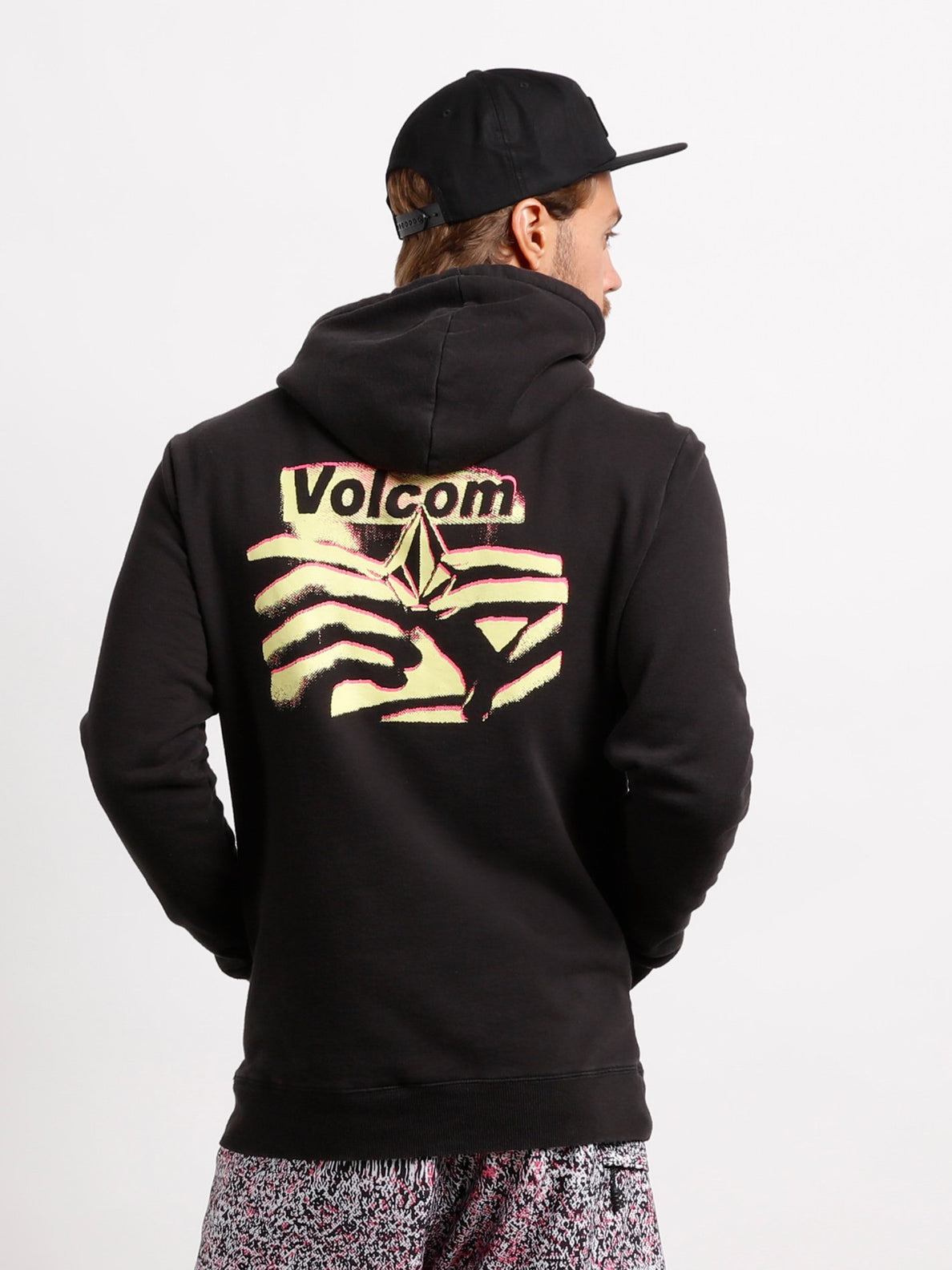 Reload Pullover Hoodie In Washed Black, Alternate View