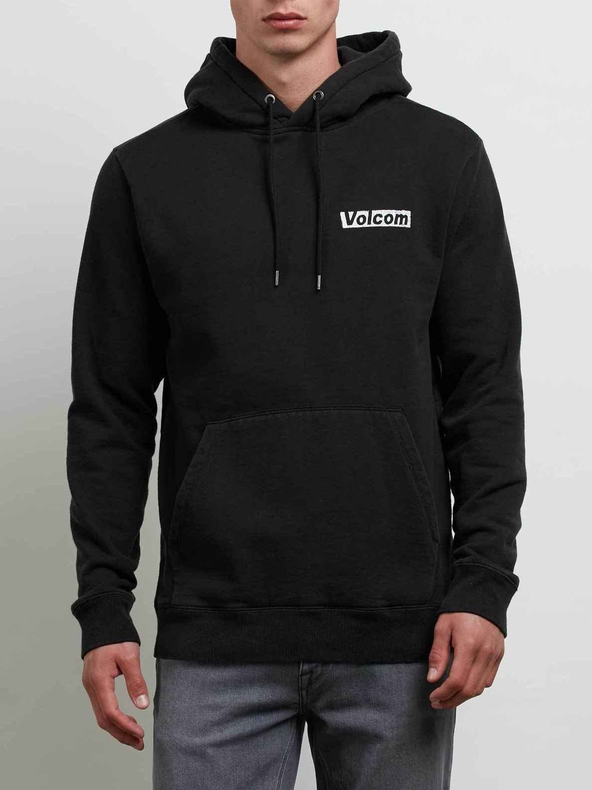 Reload Pullover Hoodie In Washed Black, Front View