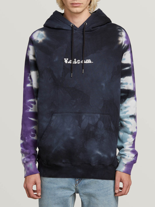 Reload Pullover Hoodie In Black, Front View