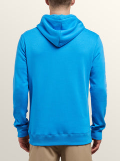 Supply Stone Pullover Hoodie In Free Blue, Back View