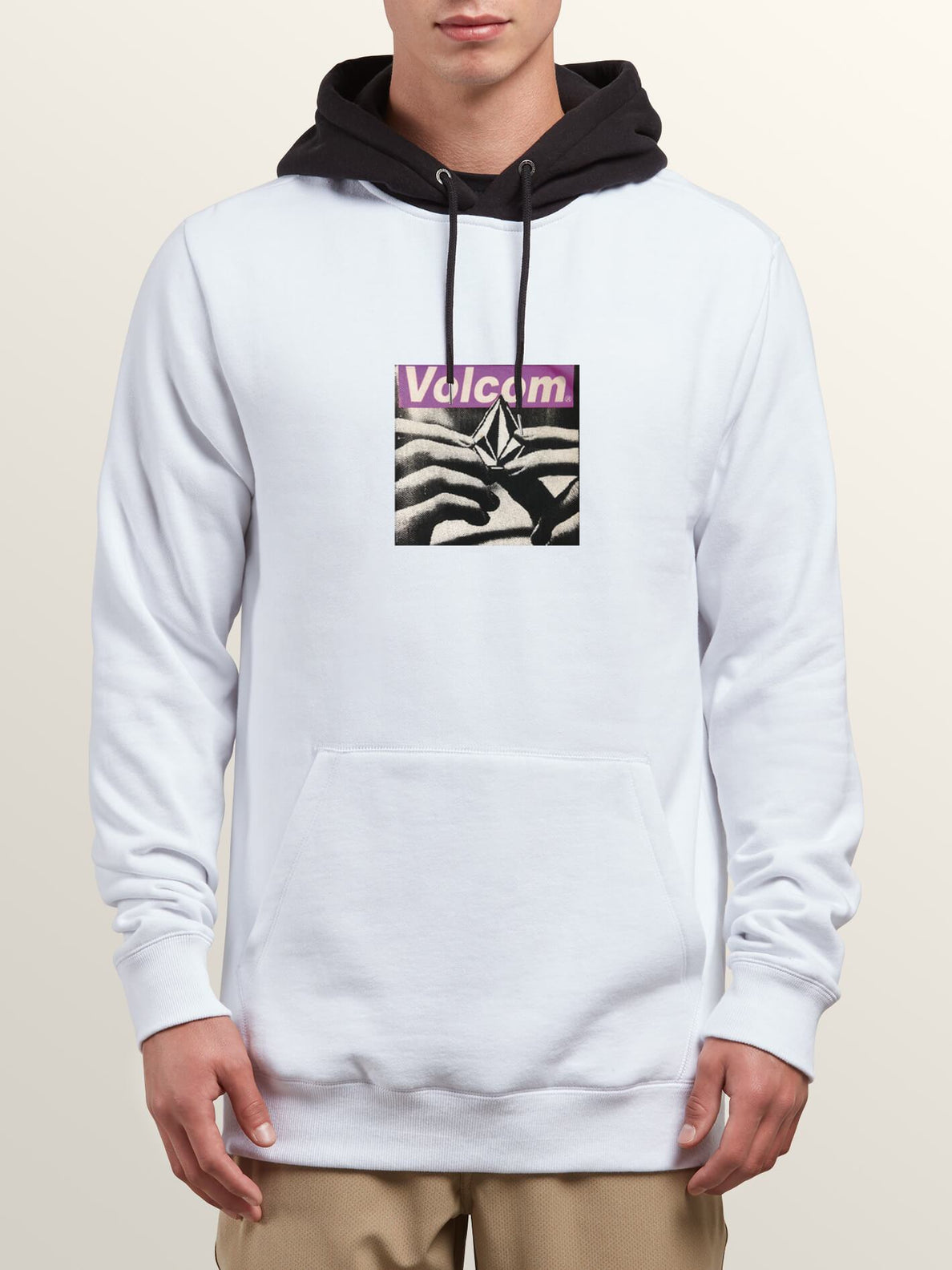 Reload Pullover Hoodie In White, Front View