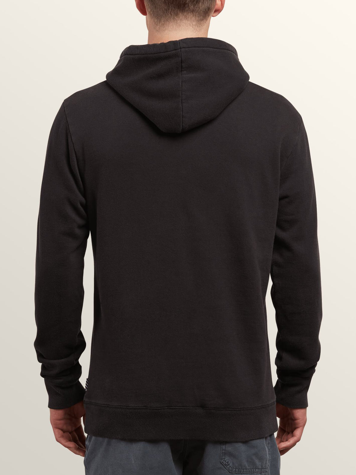 Reload Pullover Hoodie In Washed Black, Back View