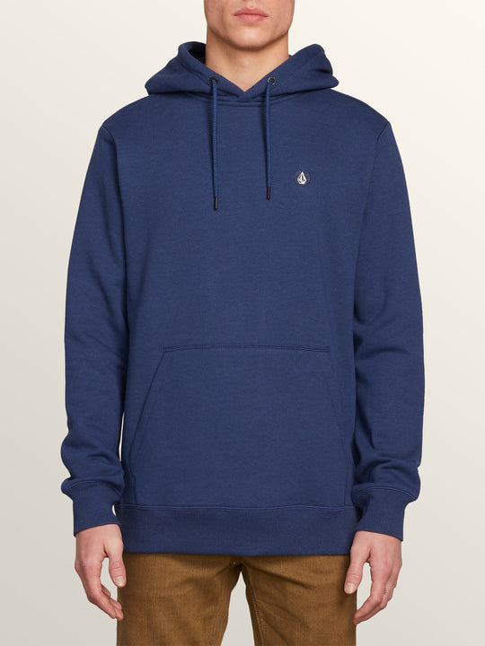 Single Stone Pullover Hoodie In Matured Blue, Front View