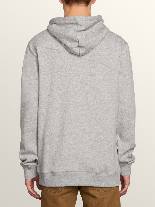 Stone Pullover Hoodie In Storm, Back View